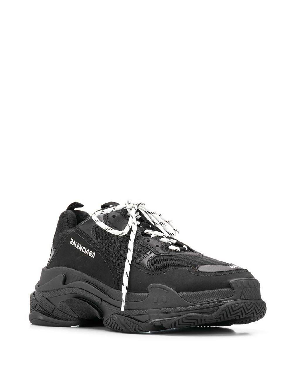 BALENCIAGA Triple S Sneakers Black