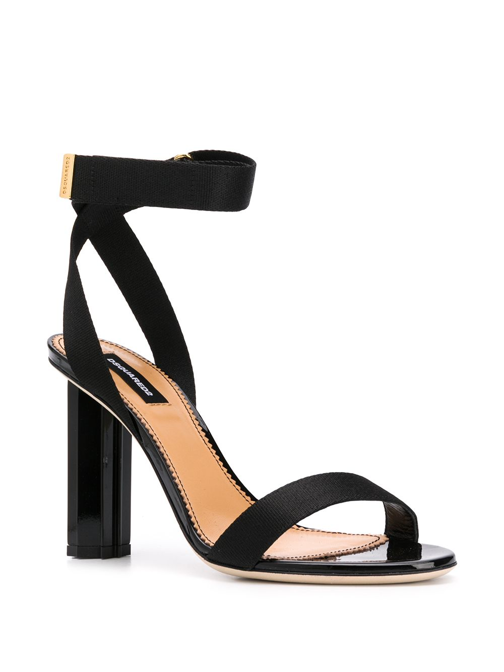 DSQUARED2 women leaf sandal black
