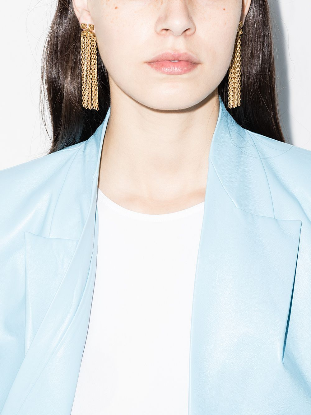OFF-WHITE Arrow Pendant Earrings Gold