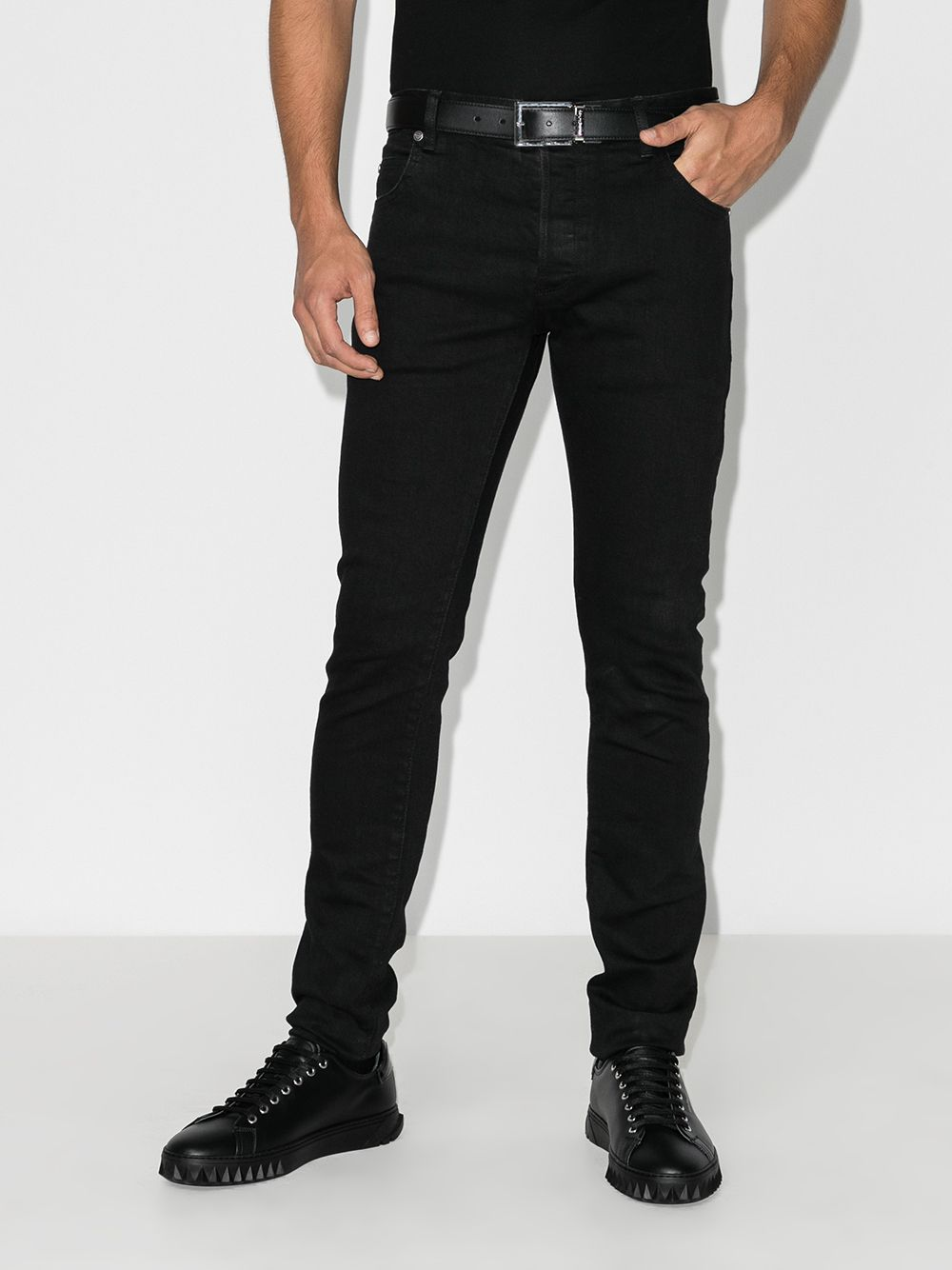 BALMAIN Slim Jeans Black - Maison De Fashion