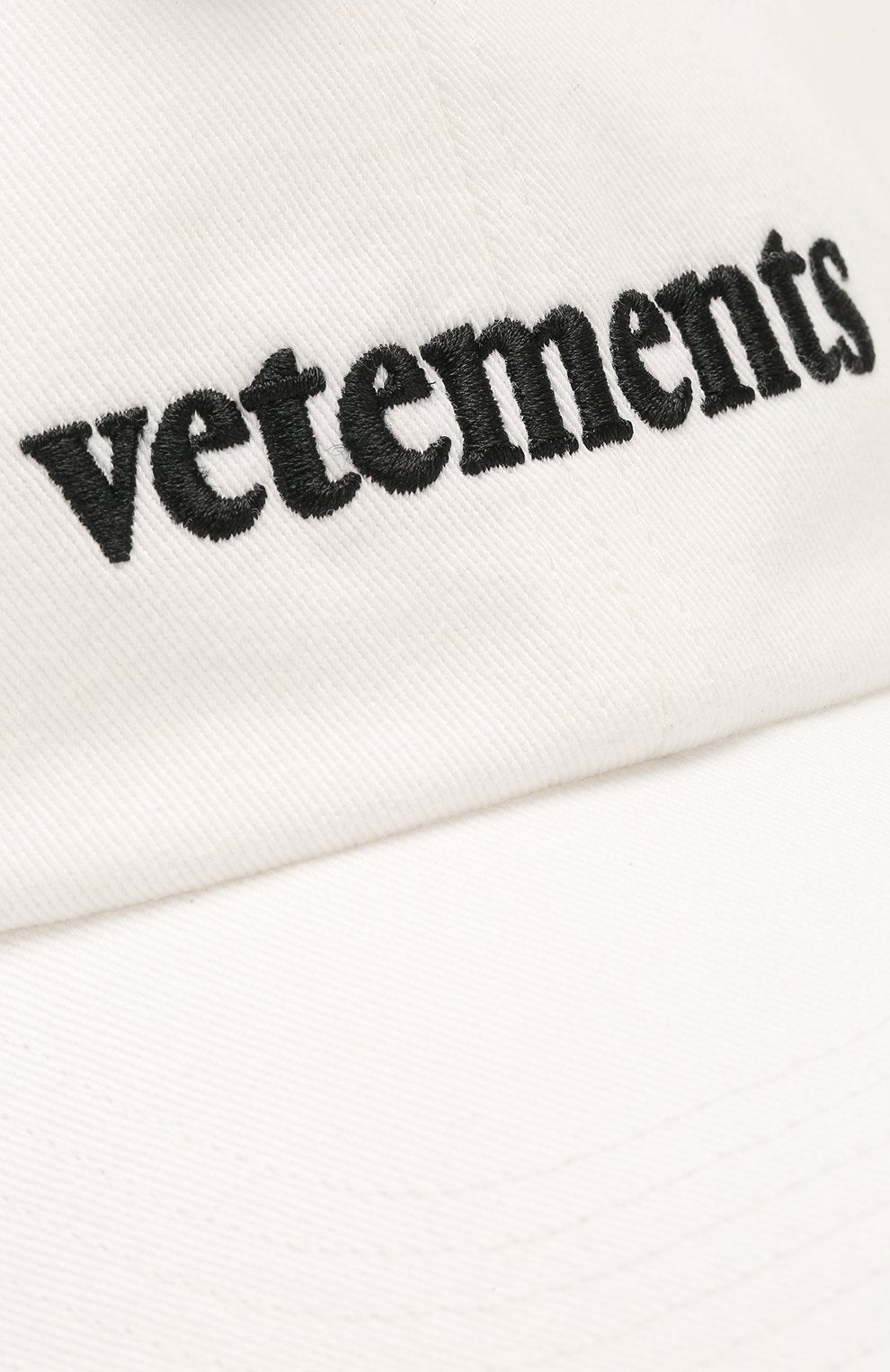 VETEMENTS New Logo Cap White