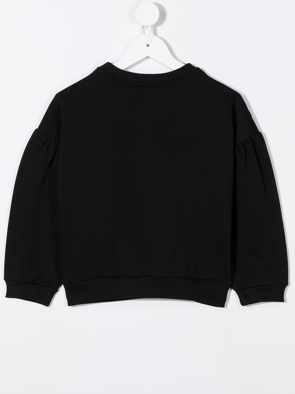 GIVENCHY KIDS Cracked Logo Sweatshirt Black/Gold