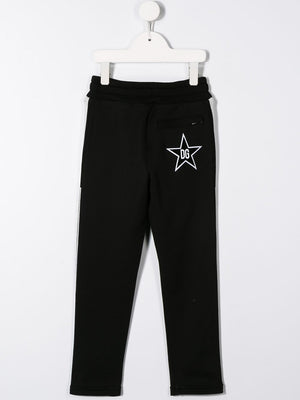 DOLCE & GABBANA KIDS star track pants Black