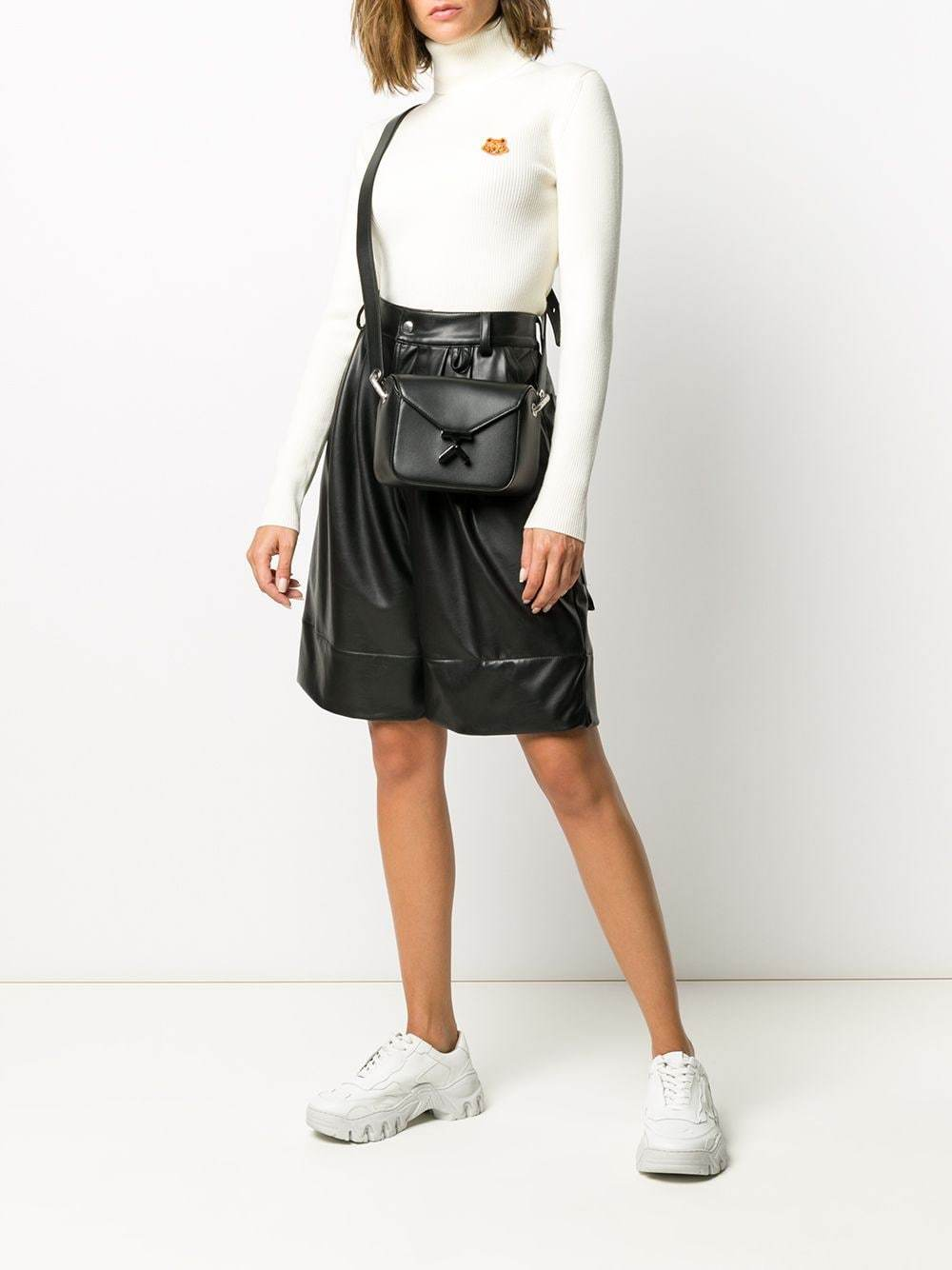 KENZO WOMEN K Logo Crossbody Bag Black