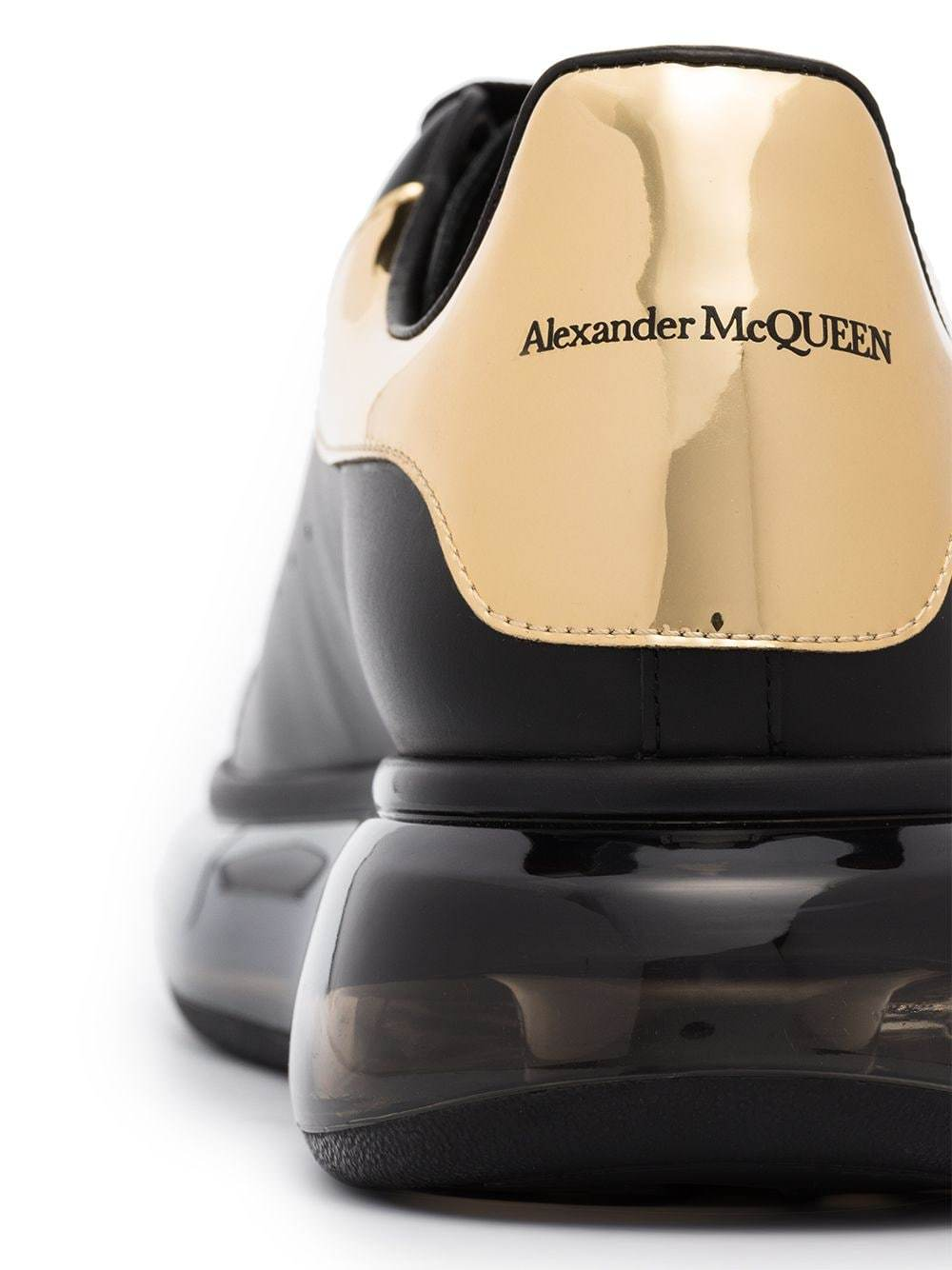 Alexander McQueen Oversized leather sneakers black/gold