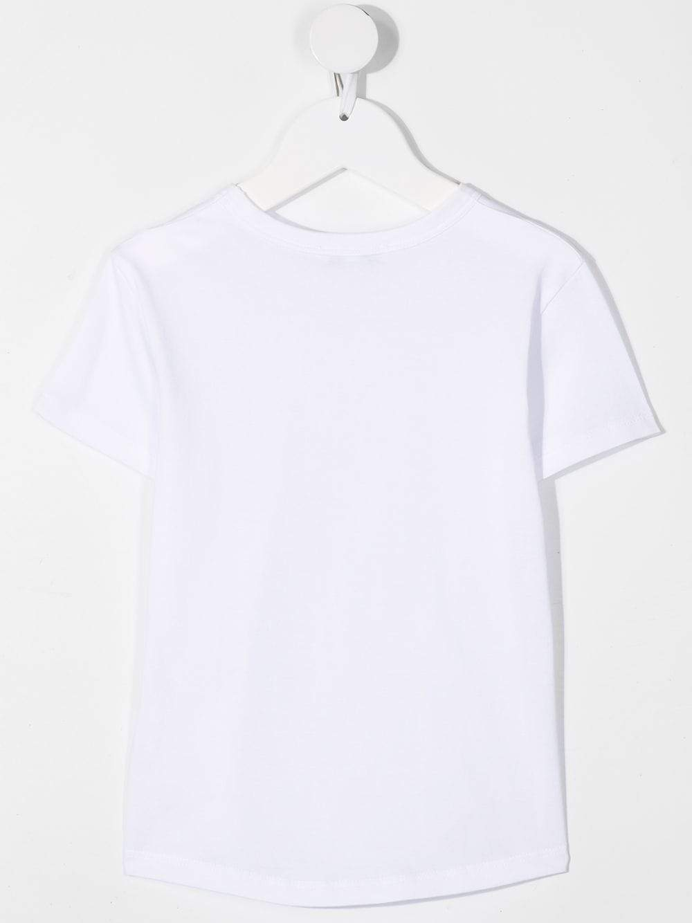 GIVENCHY KIDS Foil Cracked Logo-print cotton T-Shirt White