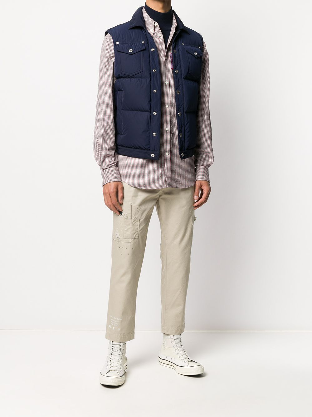 DSQUARED2 Padded Down Gilet Navy