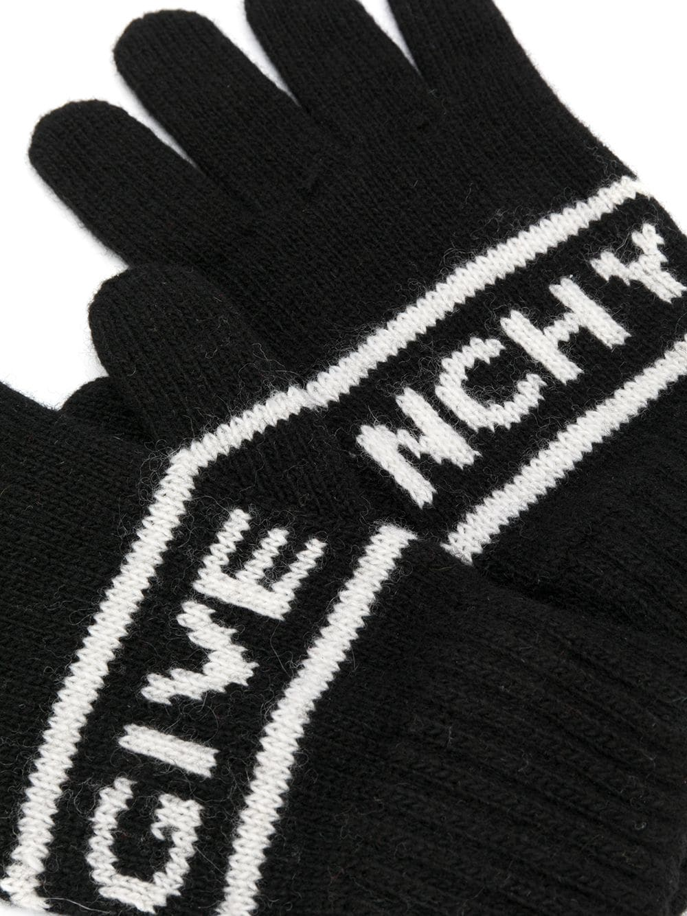 GIVENCHY KIDS Stripe Logo Gloves Black/White