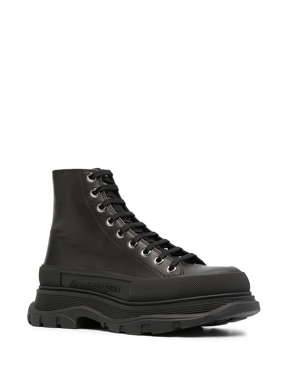 Alexander McQueen Tread Ankle Boots Black - Maison De Fashion