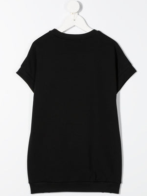GIVENCHY KIDS Logo T-shirt dress Black