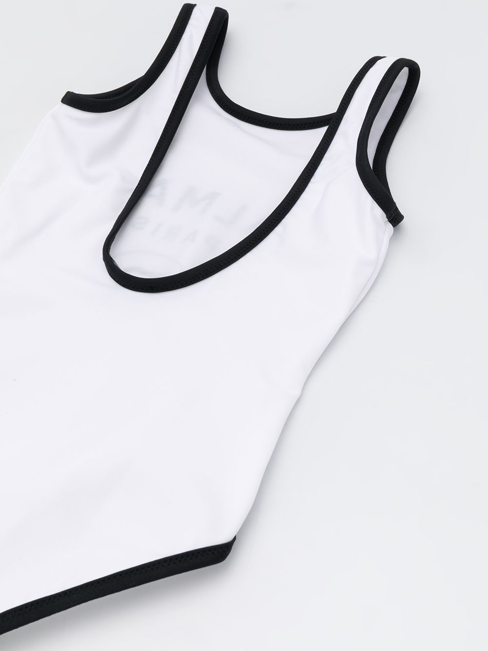 BALMAIN KIDS logo swim suit white