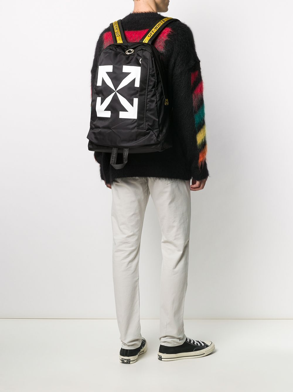 OFF-WHITE Arrow Backpack Black/White