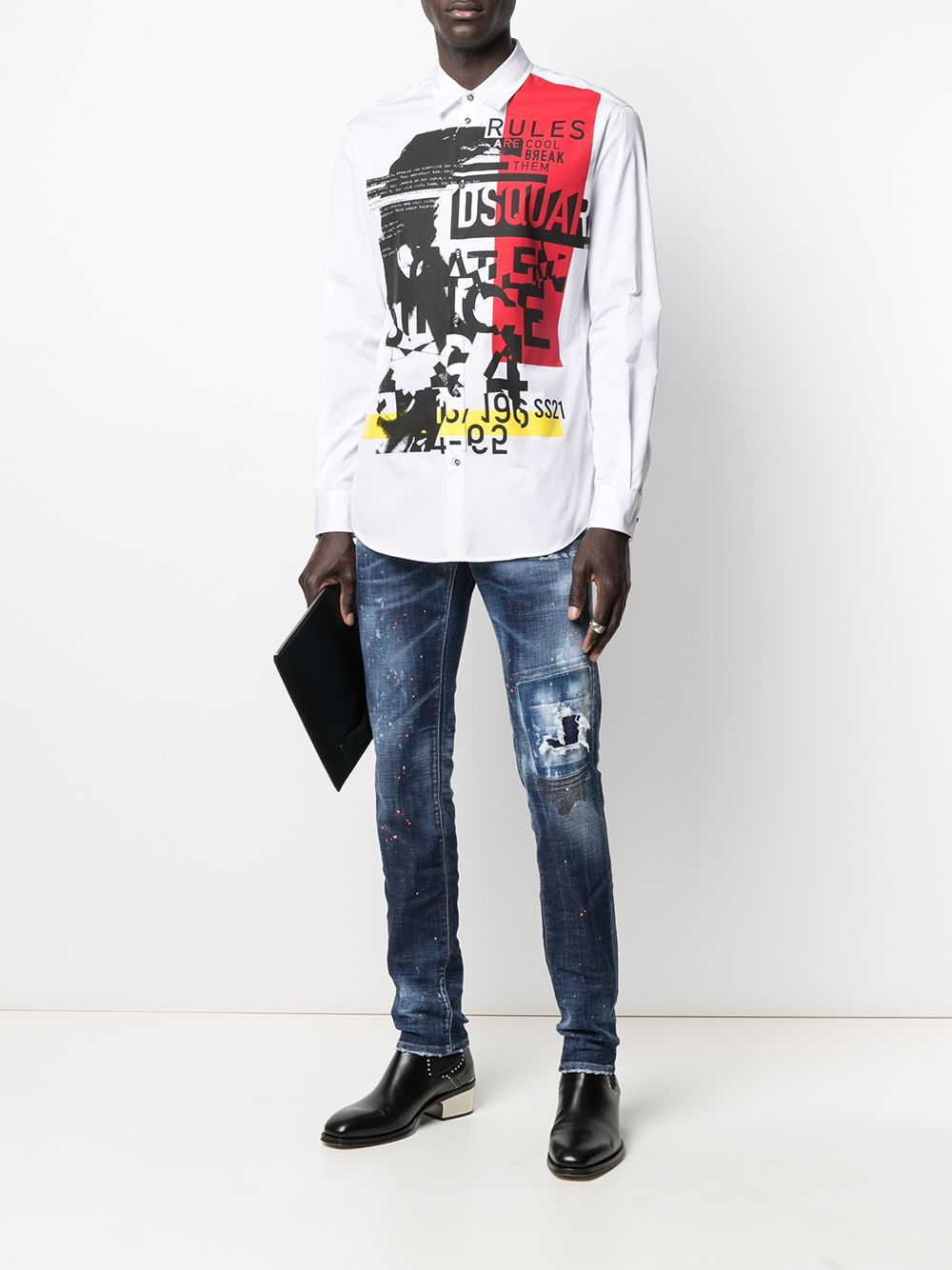 DSQUARED2 5 Pocket Skinny Logo Jeans