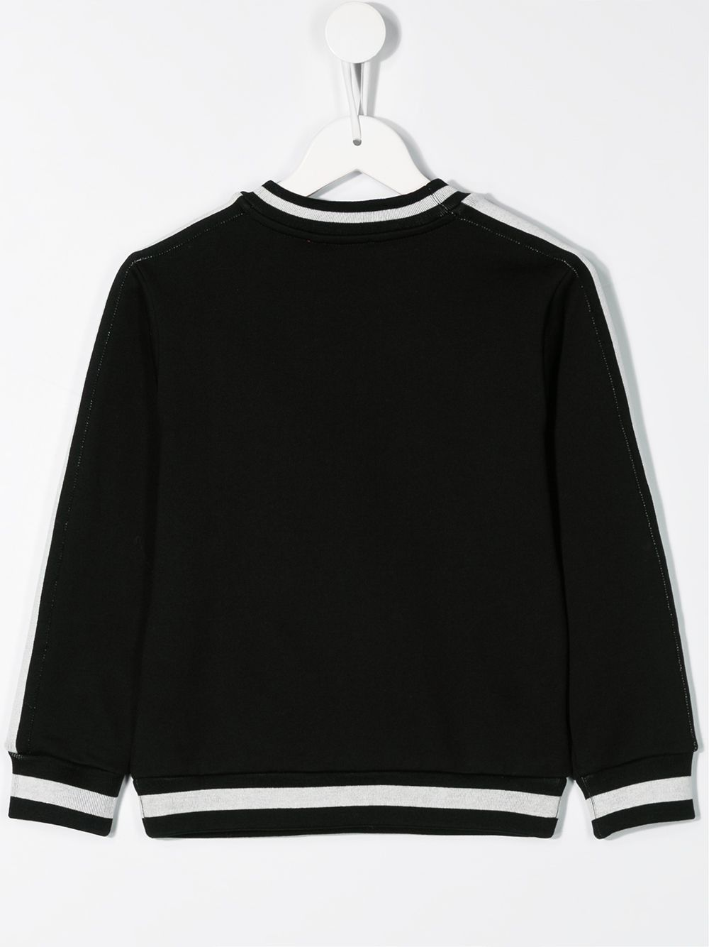 DOLCE & GABBANA KIDS contrast strip logo jumper Black