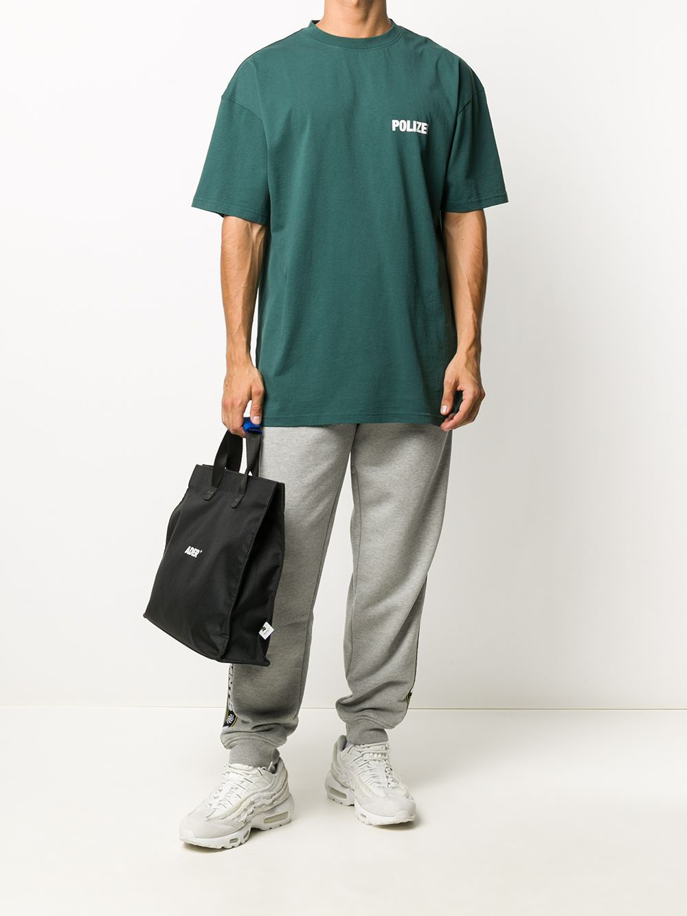 VETEMENTS polizei logo t-shirt green