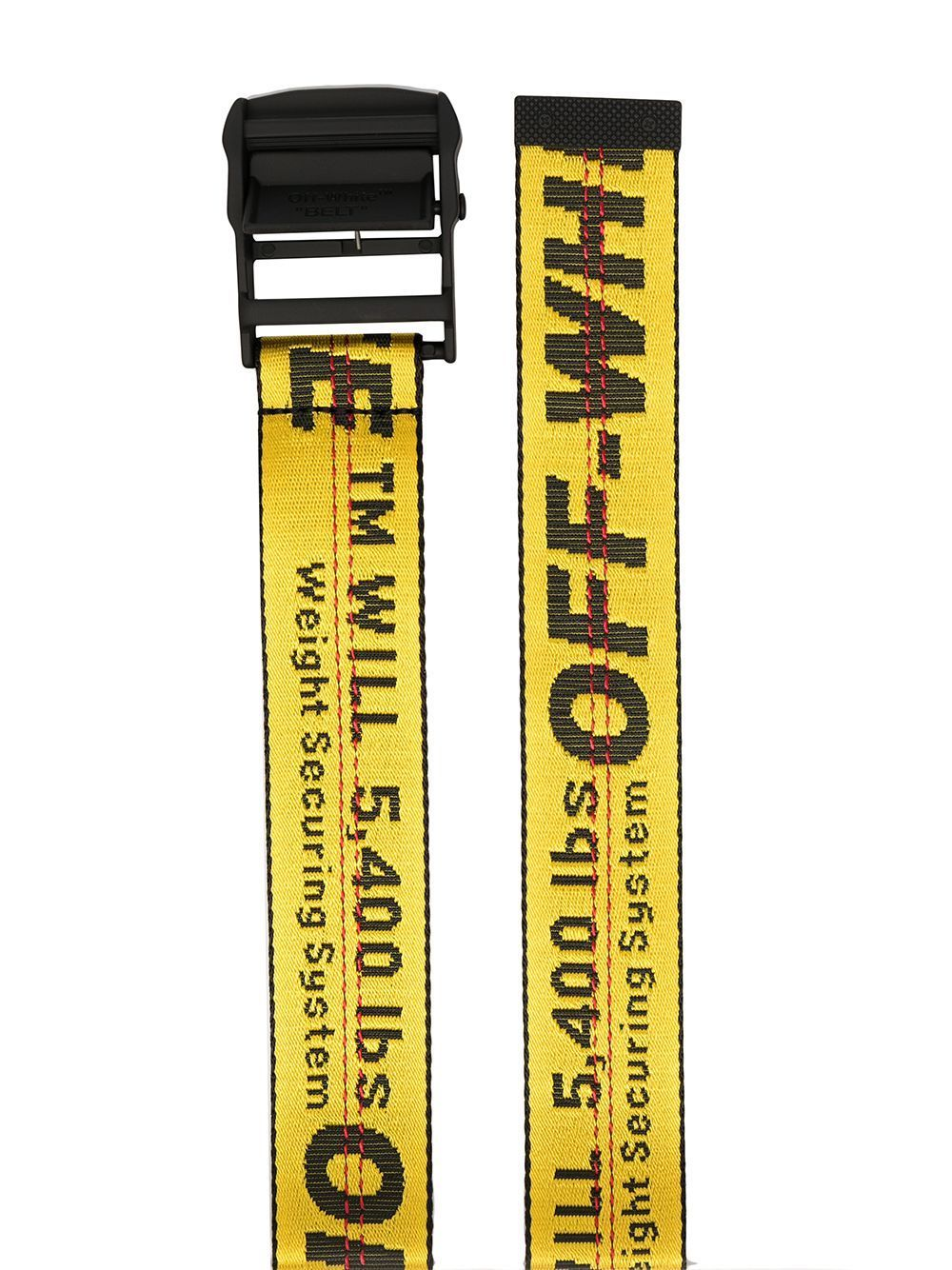 OFF-WHITE Yellow Industrial Belt - Maison De Fashion