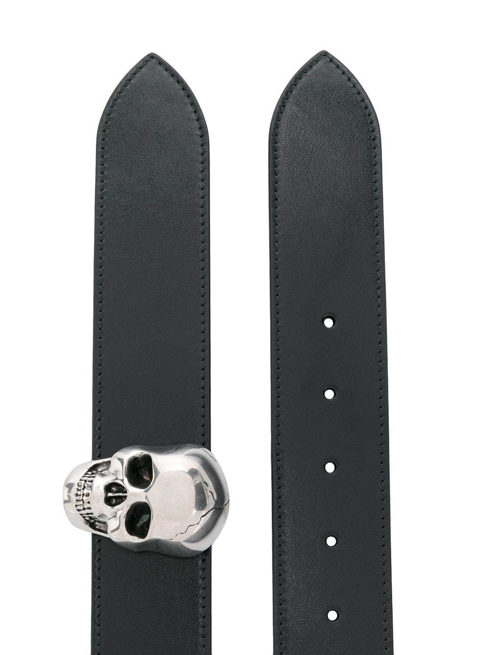 Alexander McQueen 3d buckle reversible belt - Maison De Fashion