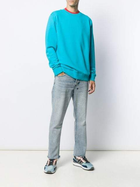 Marcelo Burlon patch wings turquoise sweatshirt - Maison De Fashion