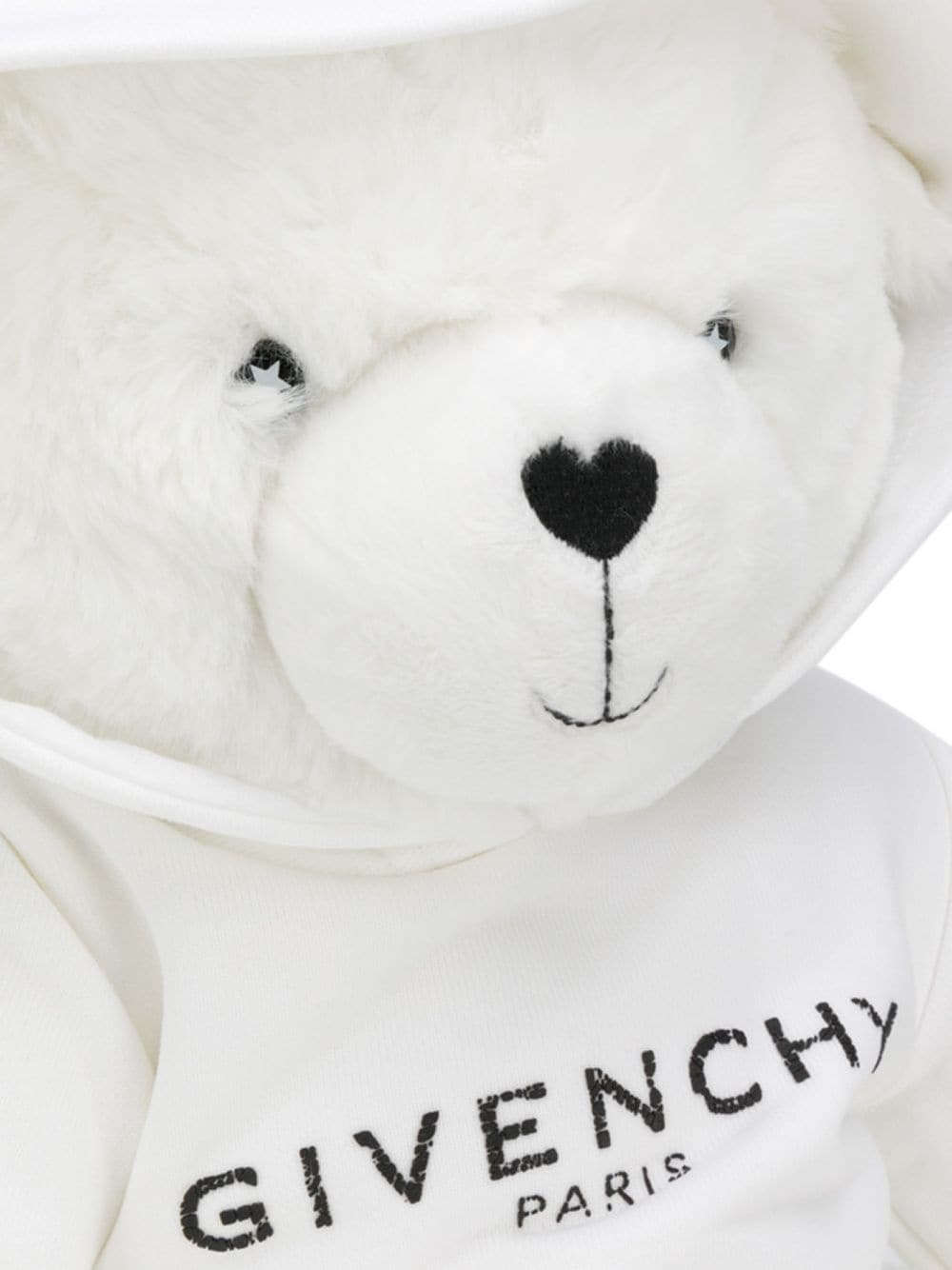 GIVENCHY KIDS Logo Hoodie Teddy Bear White
