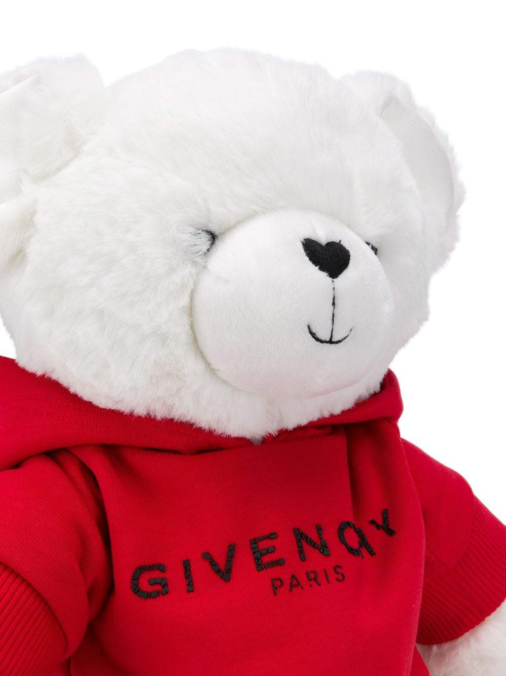 GIVENCHY KIDS Logo Hoodie Teddy Bear Red