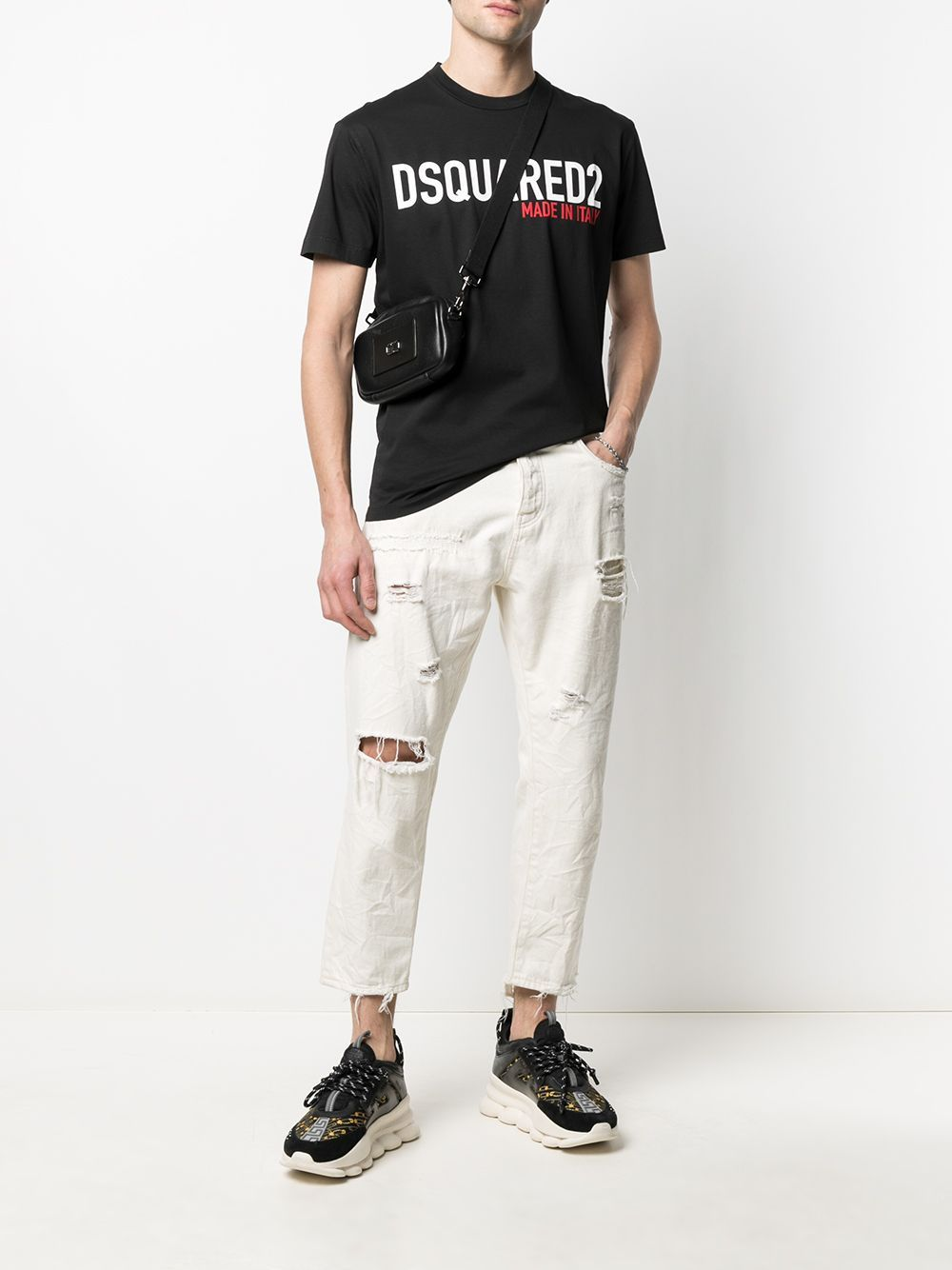 DSQUARED2 Made in Italy Logo T-Shirt Black
