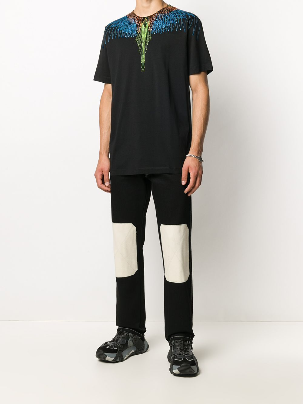MARCELO BURLON Bezier Wings T-shirt Black