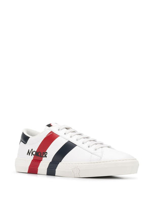 MONCLER striped low top sneakers