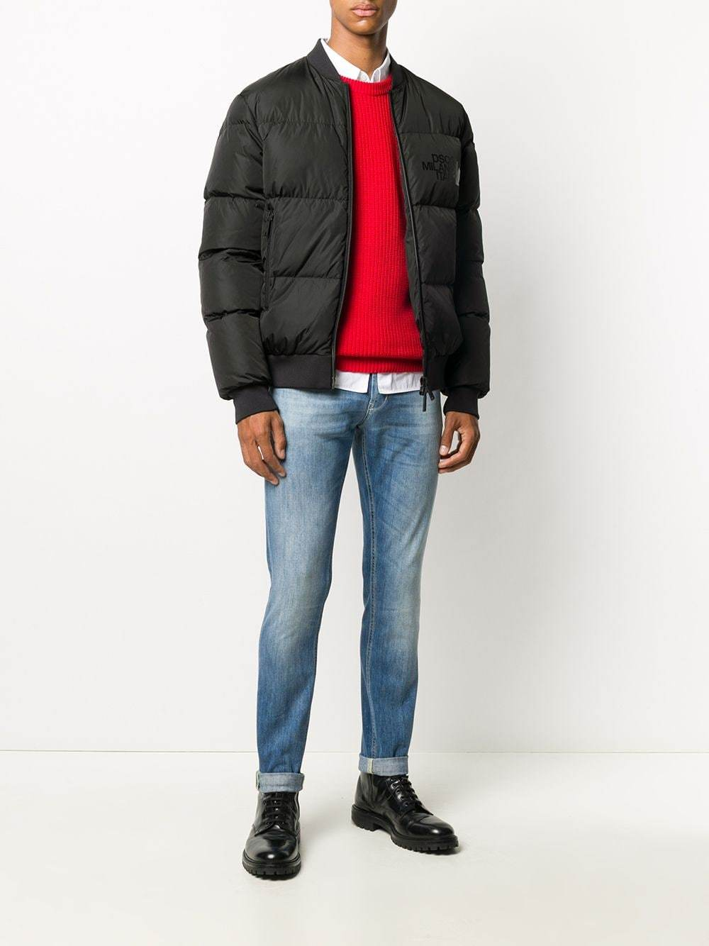 DSQUARED2 Down Bomber Jacket Black