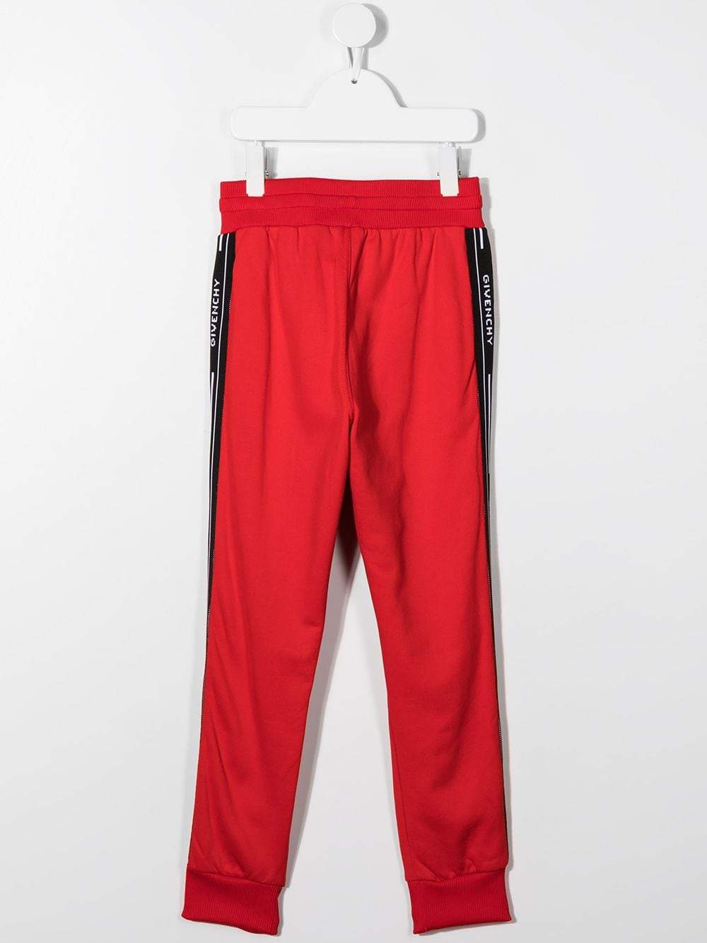 GIVENCHY KIDS Tape Logo Sweatpants Red - Maison De Fashion
