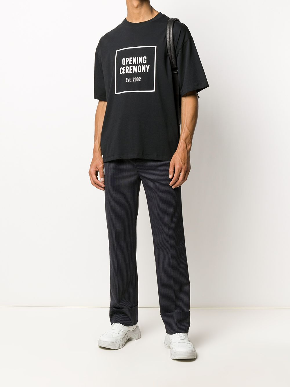 Opening Ceremony Box Logo Print T-shirt Black