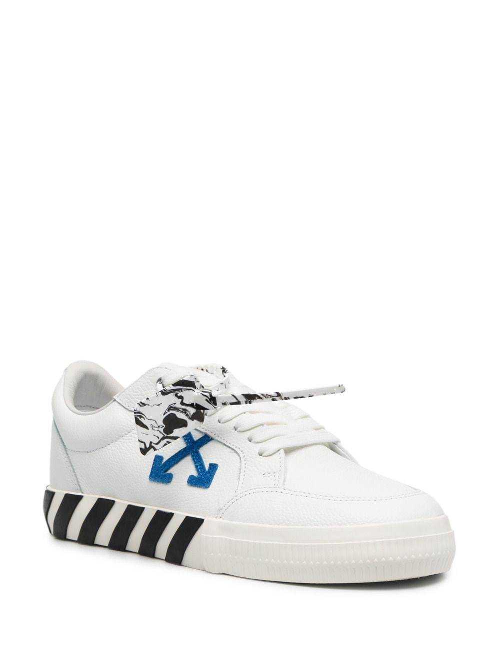 OFF-WHITE Low Vulcanized Sneakers White/Blue