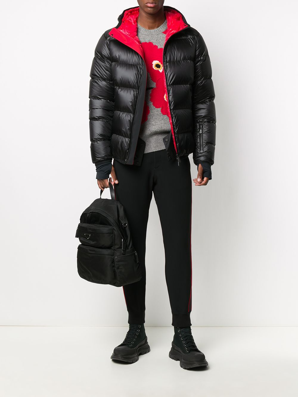 Moncler Grenoble hintertux puffer jacket black