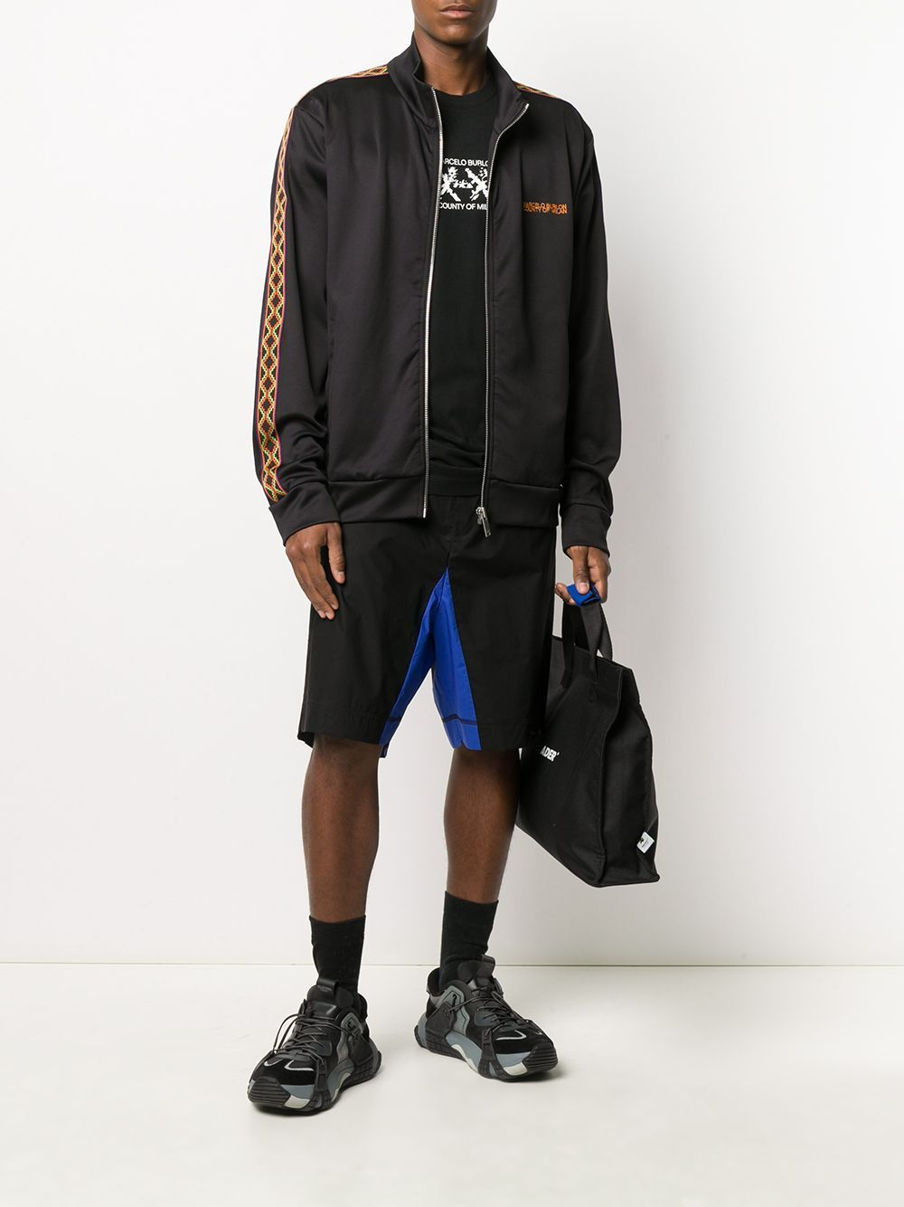 Marcelo Burlon Folk Tape Track Jacket Black