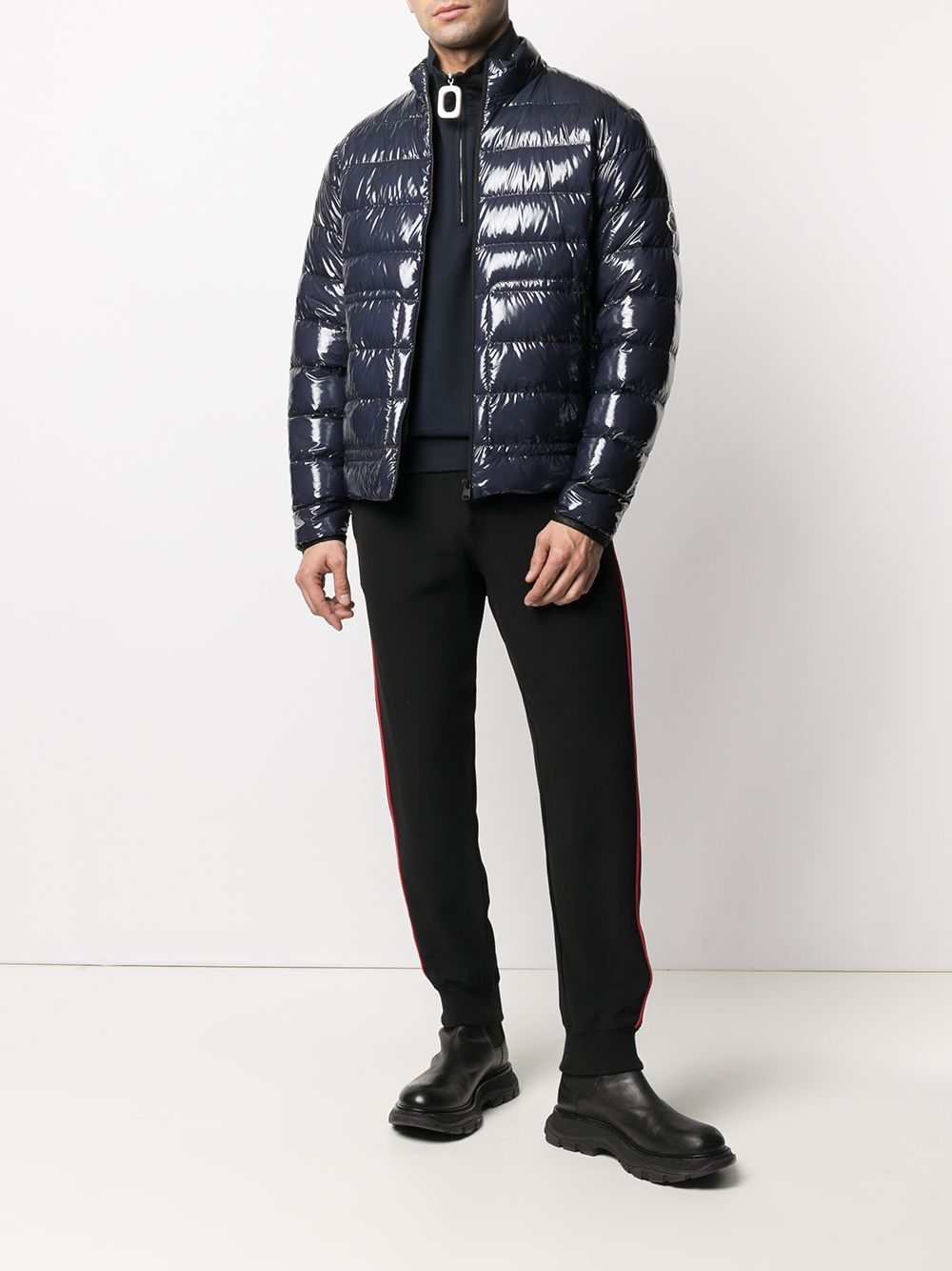 MONCLER Agar Padded Jacket Navy