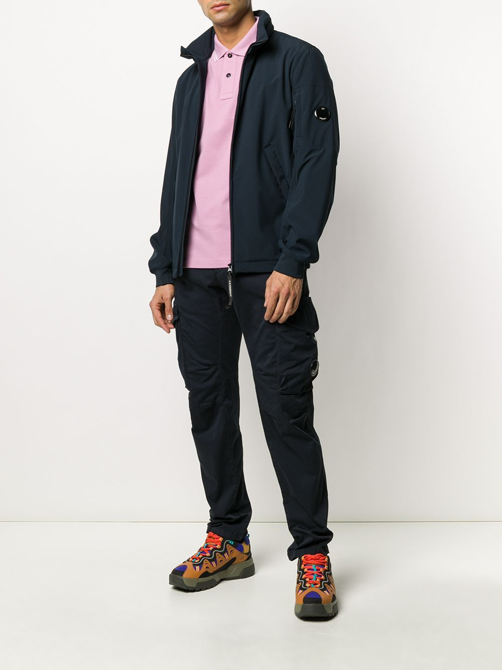 C.P. COMPANY mid-rise cargo trousers navy