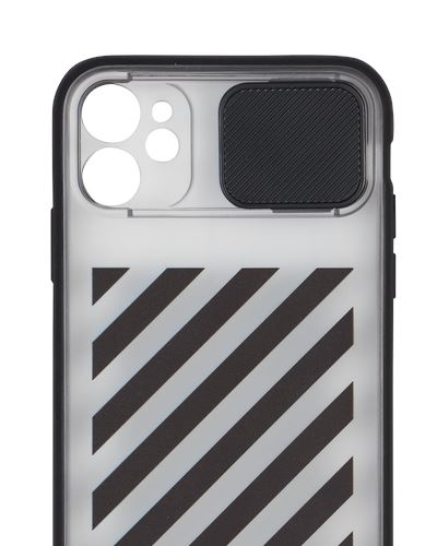 OFF-WHITE Diagonal Slide iPhone 11 Phone Case Black
