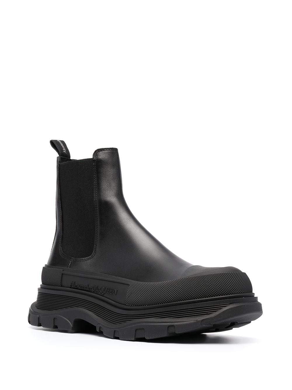 Alexander McQueen Chunky Sole Chelsea Boots Black