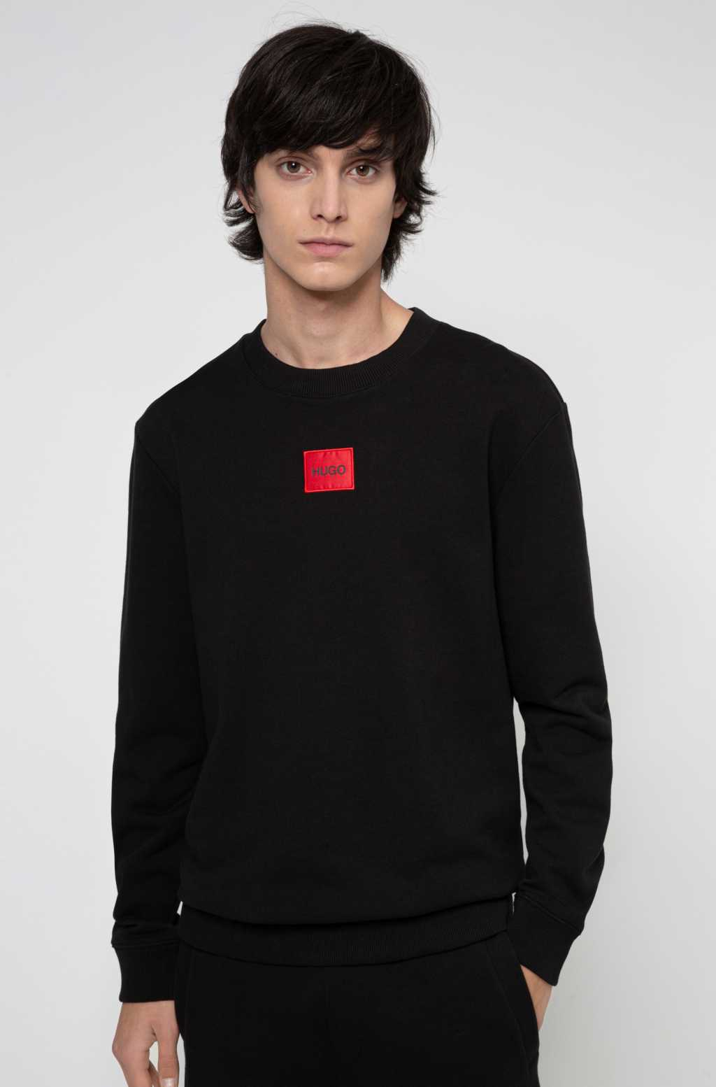 HUGO Square Logo Sweatshirt Black