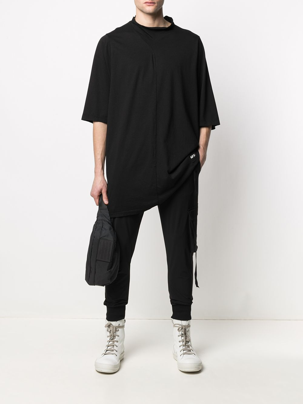 RICK OWENS DRKSHDW Stitching-detail cotton T-Shirt Black