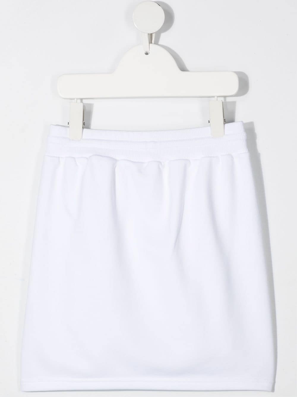 GIVENCHY KIDS Logo-print knitted skirt White