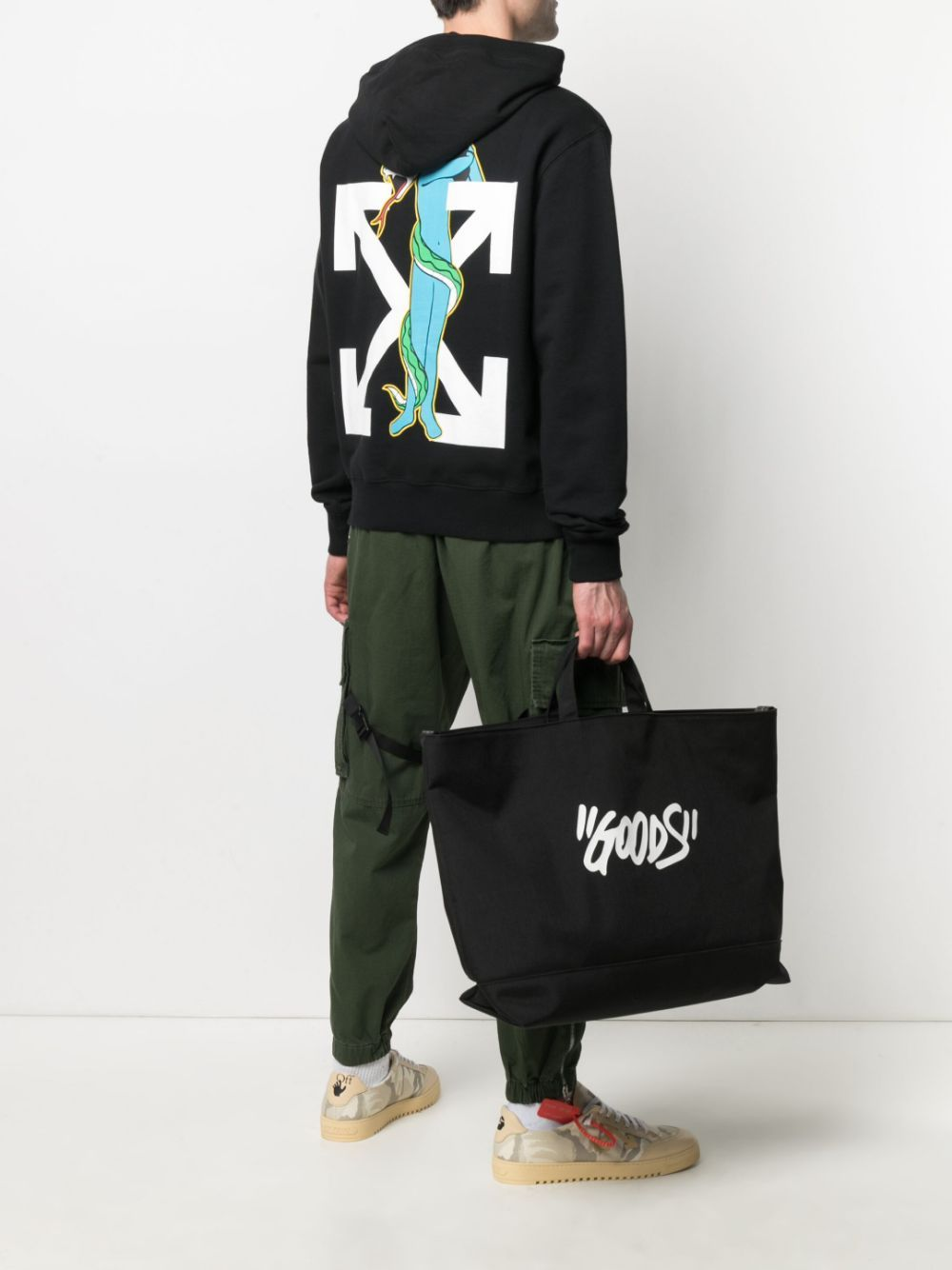 OFF-WHITE Adam Is Eve Hoodie Black