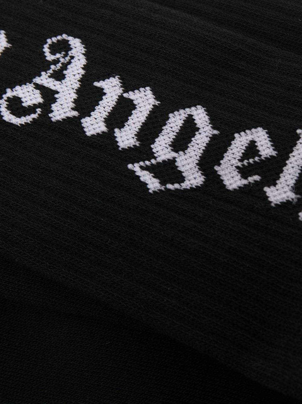 PALM ANGELS Logo Socks Black