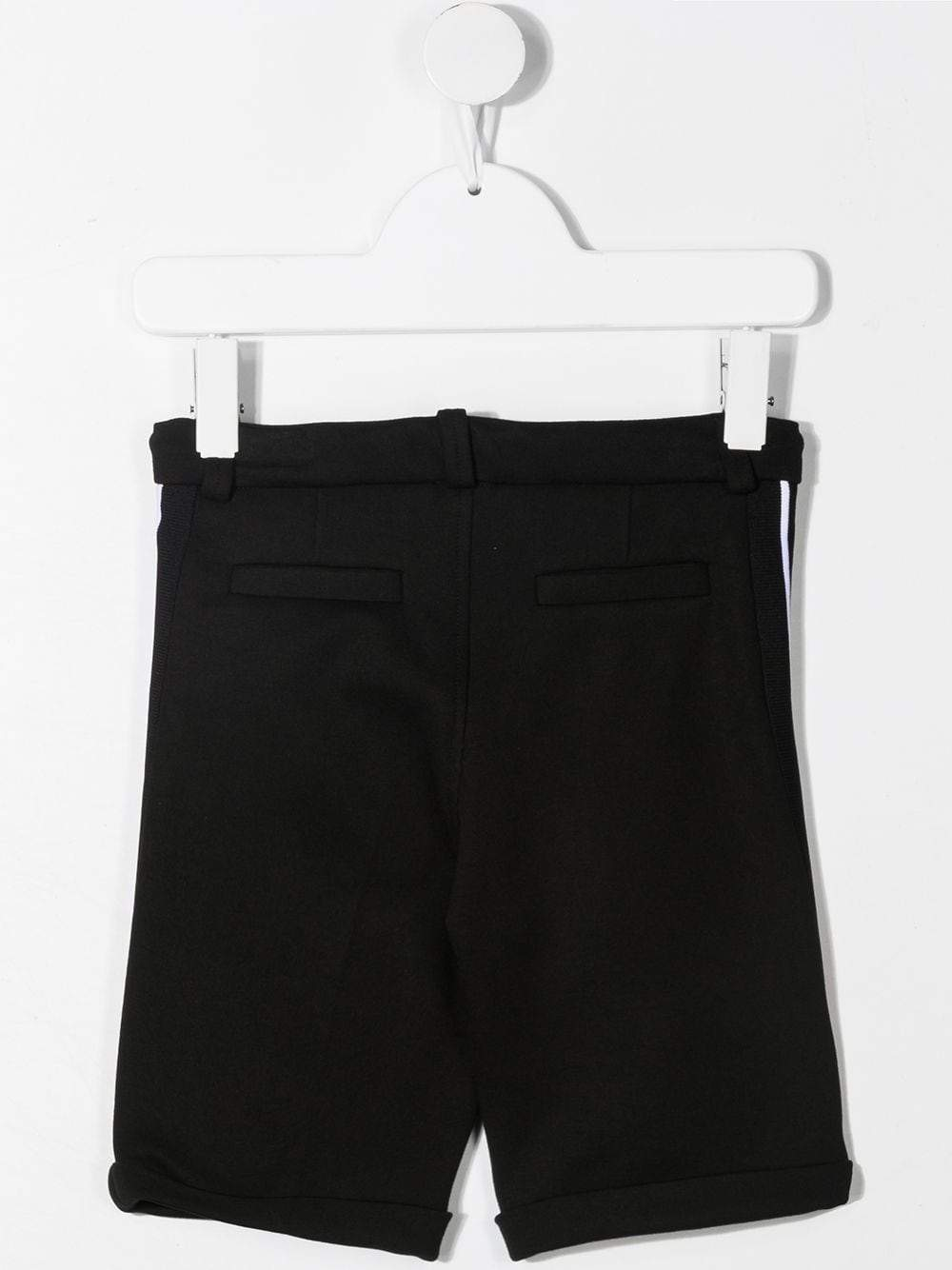 GIVENCHY KIDS Logo Tape Shorts Black
