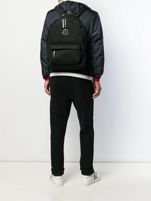 Moncler tonal logo patch backpack - Maison De Fashion