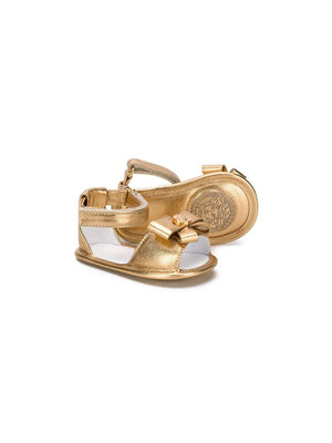 VERSACE KIDS bow-embellished sandals gold