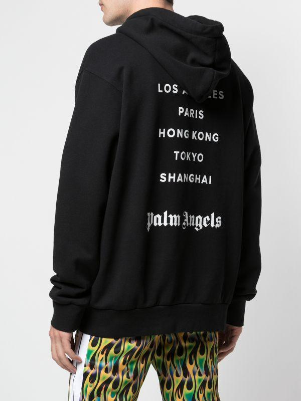 PALM ANGELS Paris sprayed hoodie black