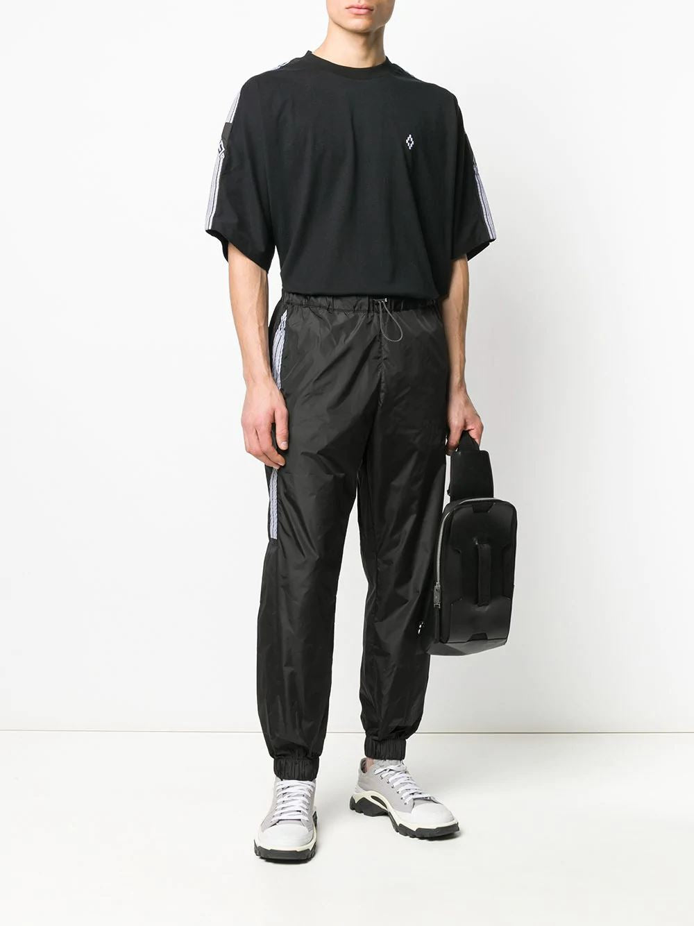 MARCELO BURLON tape logo track pants - Maison De Fashion