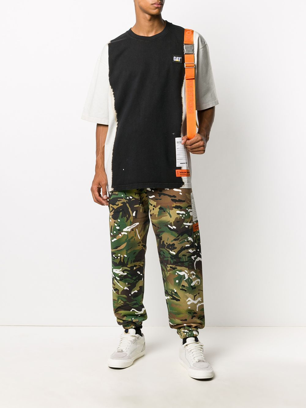 HERON PRESTON Oversized Tie Dye T-shirt Black/White