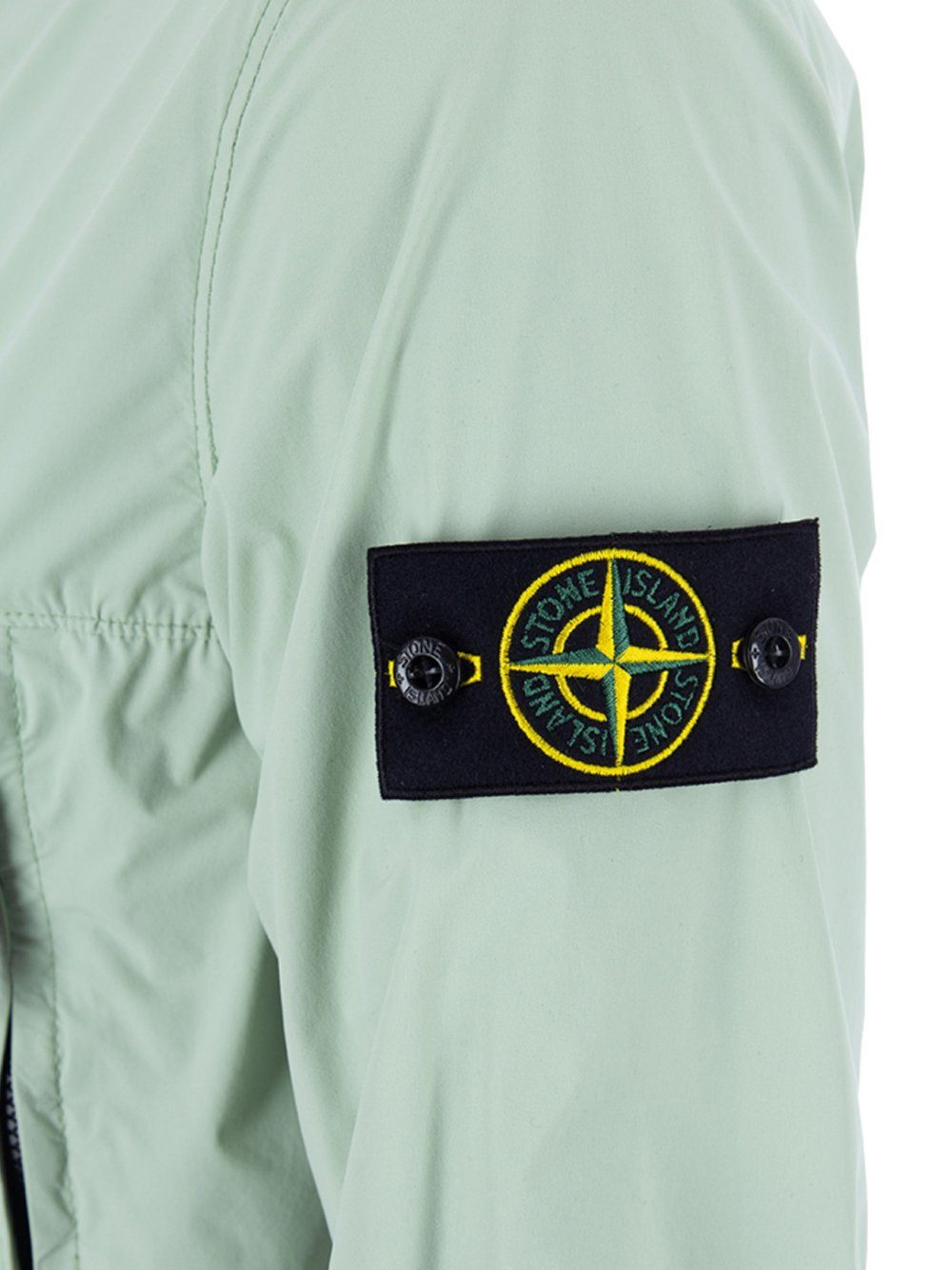 STONE ISLAND SKIN TOUCH NYLON- TC  Hooded Windbreaker Green
