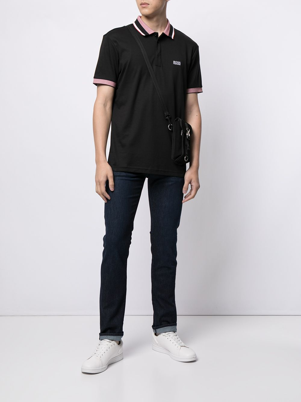 BOSS Paddy 1 Logo print polo shirt Black